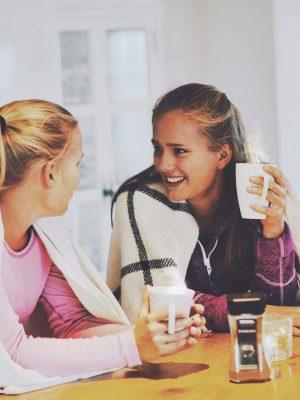 Hyggelig samtale inne